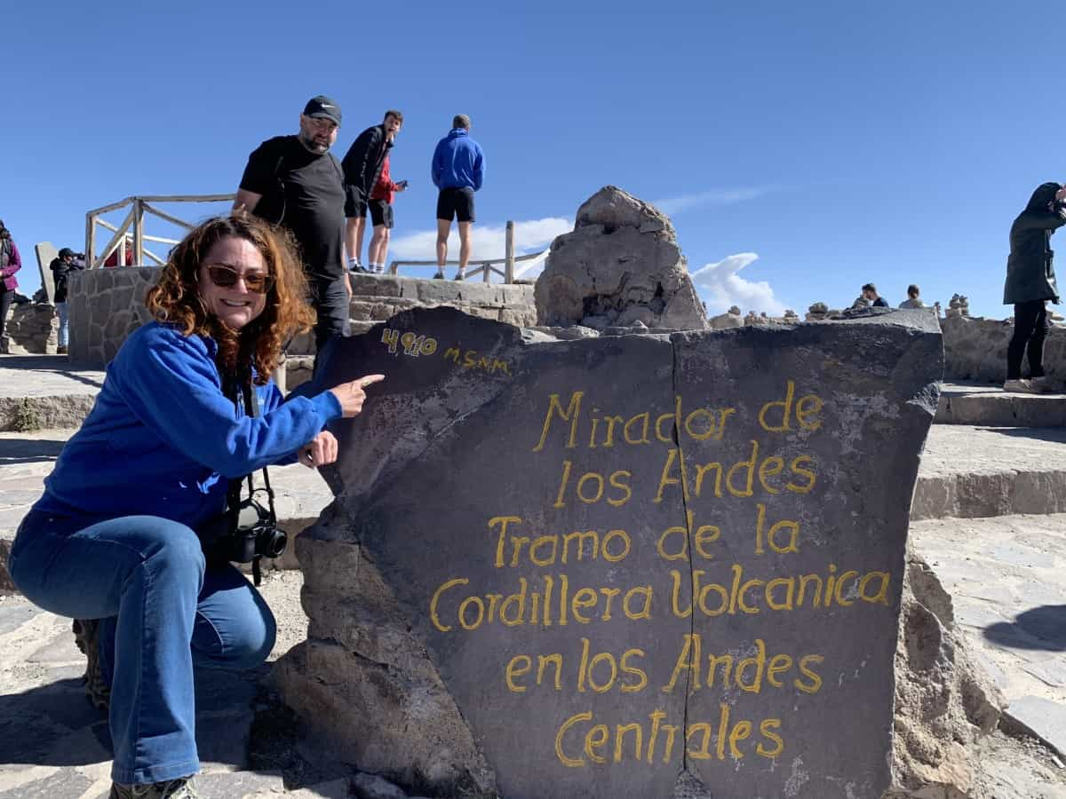 Heather Markel at high altitude