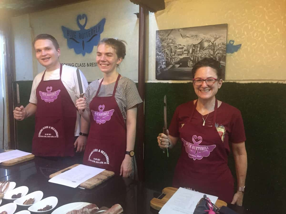 Heather Markel at a cooking class in Vietnam